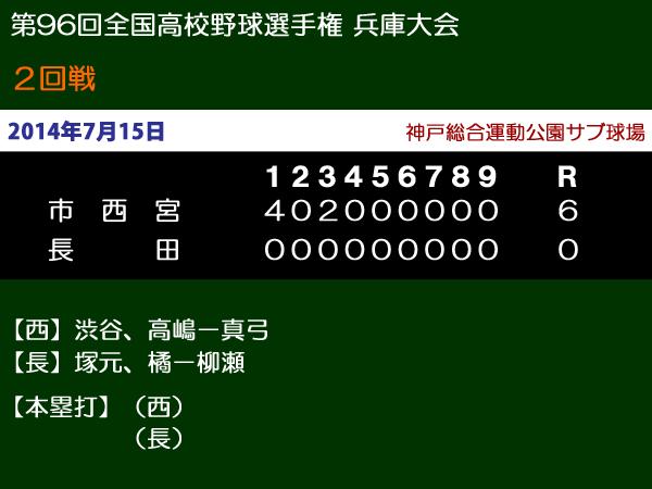 第96回全国高校野球選手権兵庫大会2回戦・長田vs市西宮